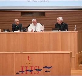 El Papa, en la Congregación General de los jesuitas