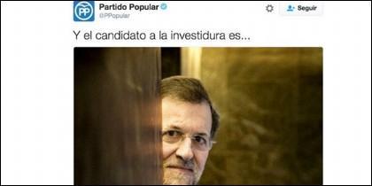 Captura del tuit eliminado por el PP.