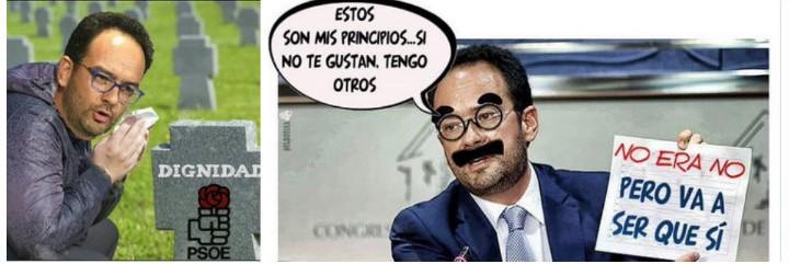 Memes sobre Antonio Hernando.