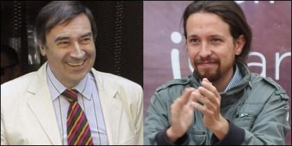 Pedrojota Ramírez y Pablo Iglesias.