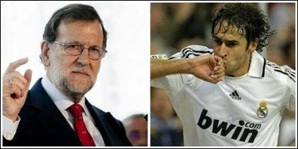 Mariano Rajoy y Raúl.