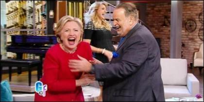 Clinton en Univision, dándolo todo