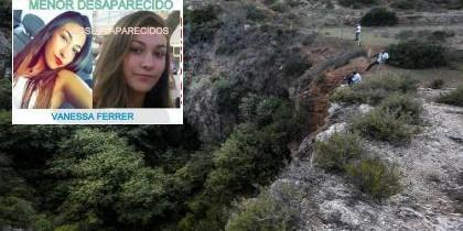 Vanessa Ferrer y la sima donde apareció su cadáver.