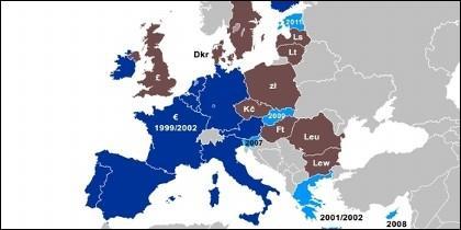 Eurozona, euro, Unión Europea.