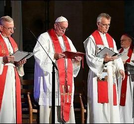 Oración ecuménica en la catedral de Lund