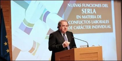 Juan Vicente Herrera en el acto del SERLA