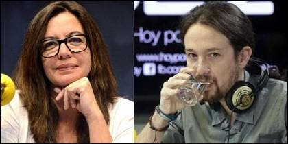 Angels Barceló y Pablo Iglesias.
