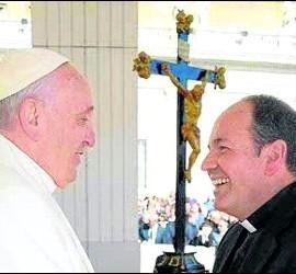 Juan Carlos Elizalde y el papa Francisco