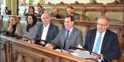 Grupo popular en el Pleno del Ayuntamiento de Valladolid