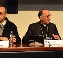 Omella y Matabosch, durante la presentación de las cuentas de la diócesis de Barcelona