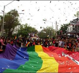 Manifestación de orgullo gay en México