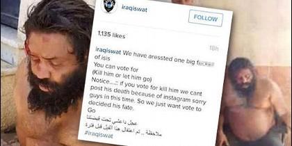 Un pez gordo entre los terroristas del ISIS, cuya cabeza ofrece en Internet el Swat Iraquí.