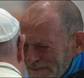 Cristian, emocionado ante el Papa