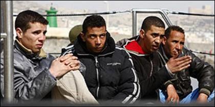 Inmigrantes argelinos.