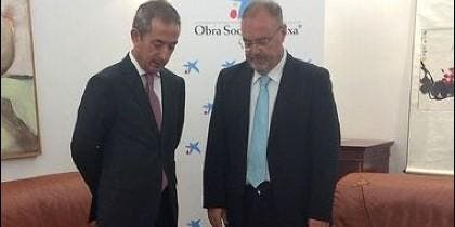 Bilbao (I) y Reuy (D) en la firma del convenio