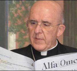 Carlos Osoro, leyendo el Alfa y Omega
