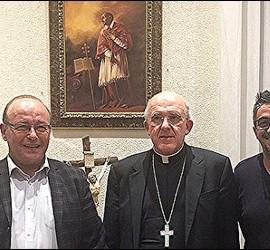 José Manuel Vidal, Carlos Osoro y Jesús Bastante