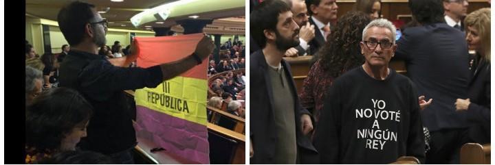 Iñaki Bernal (IU) y Diego Cañamero (Podemos) dando la nota.
