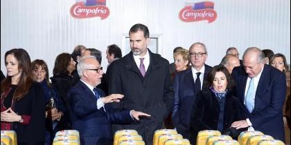 El Rey, durante su visita a las nuevas instalaciones de Campofrío