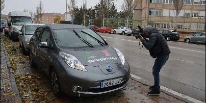 Imagen de uno de los vehículos cedidos por Nissan para poner en marcha el proyecto