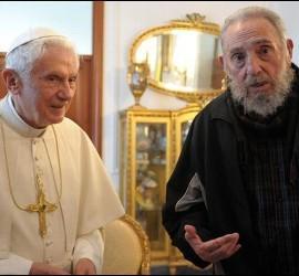 Benedicto XVI y Fidel