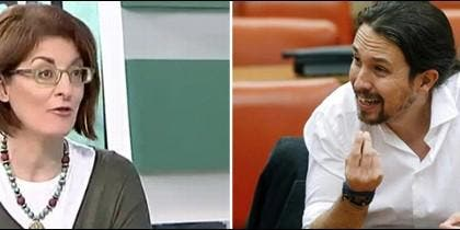 Maite Pagaza y Pablo Iglesias.