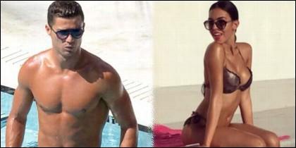 Cristiano Ronaldo con Georgina Rodríguez.