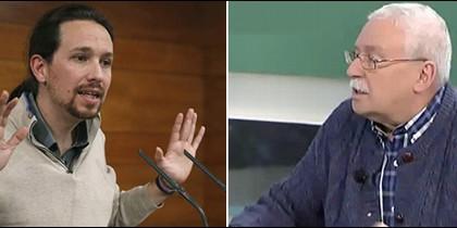 Pablo Iglesias y Joaquín Leguina.