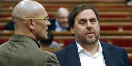 Raul Romeva y Oriol Junqueras.