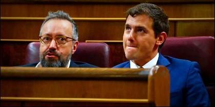 Juan Carlos Girauta y Albert Rivera.