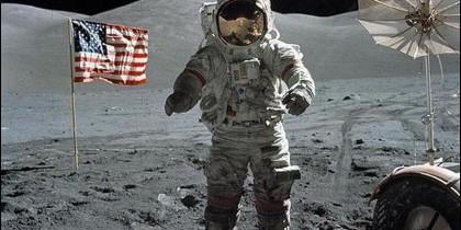 El astronauta Eugene Cernan, de la misión Apolo 17