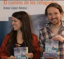 Padre Ángel, Irene López y Pablo Iglesias, en la presentación