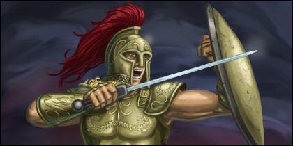 Aquiles, héroe griego.