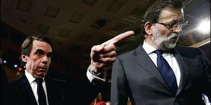 Aznar y Rajoy (PP).