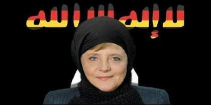 Angela Merkel con hiyab