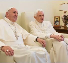 Francisco y Benedicto, en el Mater Ecclesiae