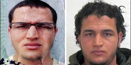 Las fotografías del cartel de búsqueda del terrorista tunecino Anis Amri.