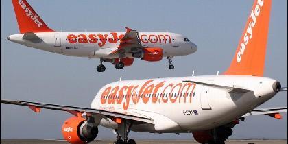 Aviones de Easyjet.