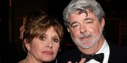 George Lucas y Carrie Fisher