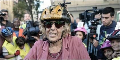 Manuela Carmena, de 'ciclista'.