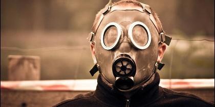 Contaminación, máscara, clima, medioambiente.
