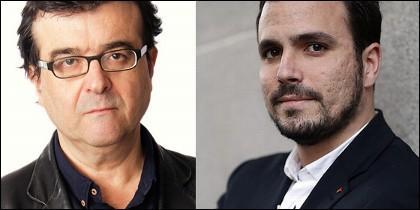 Javier Cercas y Alberto Garzón.