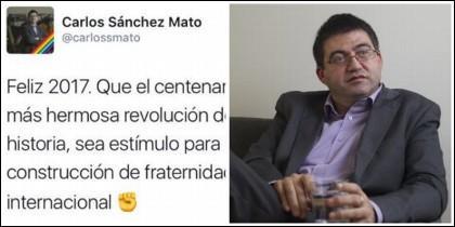 El tuit del comunista Carlos Sánchez Mato.