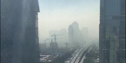 Nube de humo en Pekín