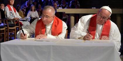 Firma de la declaración conjunta en Lund