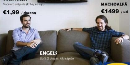 Montaje del catálogo IKEA de Podemos.