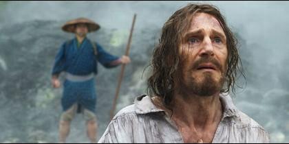 Liam Neeson, en un fotograma de 'Silencio'