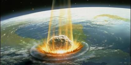 Un asteroide choca contra la Tierra.