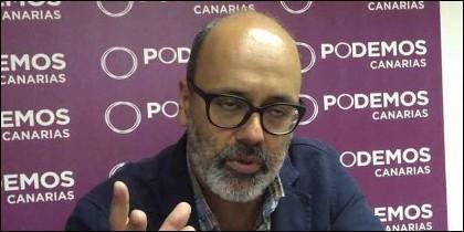 El vicepresidente segundo del Cabildo de Gran Canaria y consejero de Medio Ambiente, Juan Manuel Brito (PODEMOS).