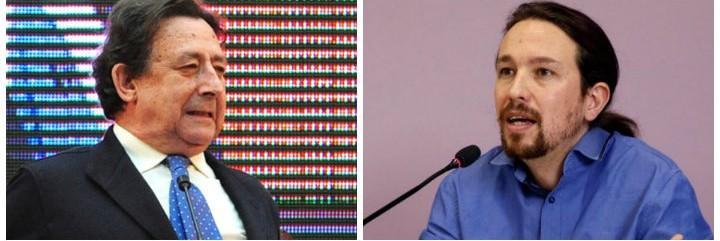 Alfonso Ussía y Pablo Iglesias.